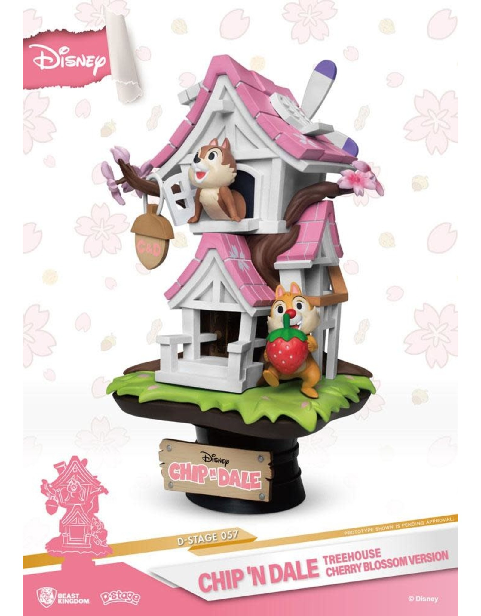 Beast Kingdom CHIP 'N' DALE D-Select Diorama 16cm - Tree House Cherry Blossom Version