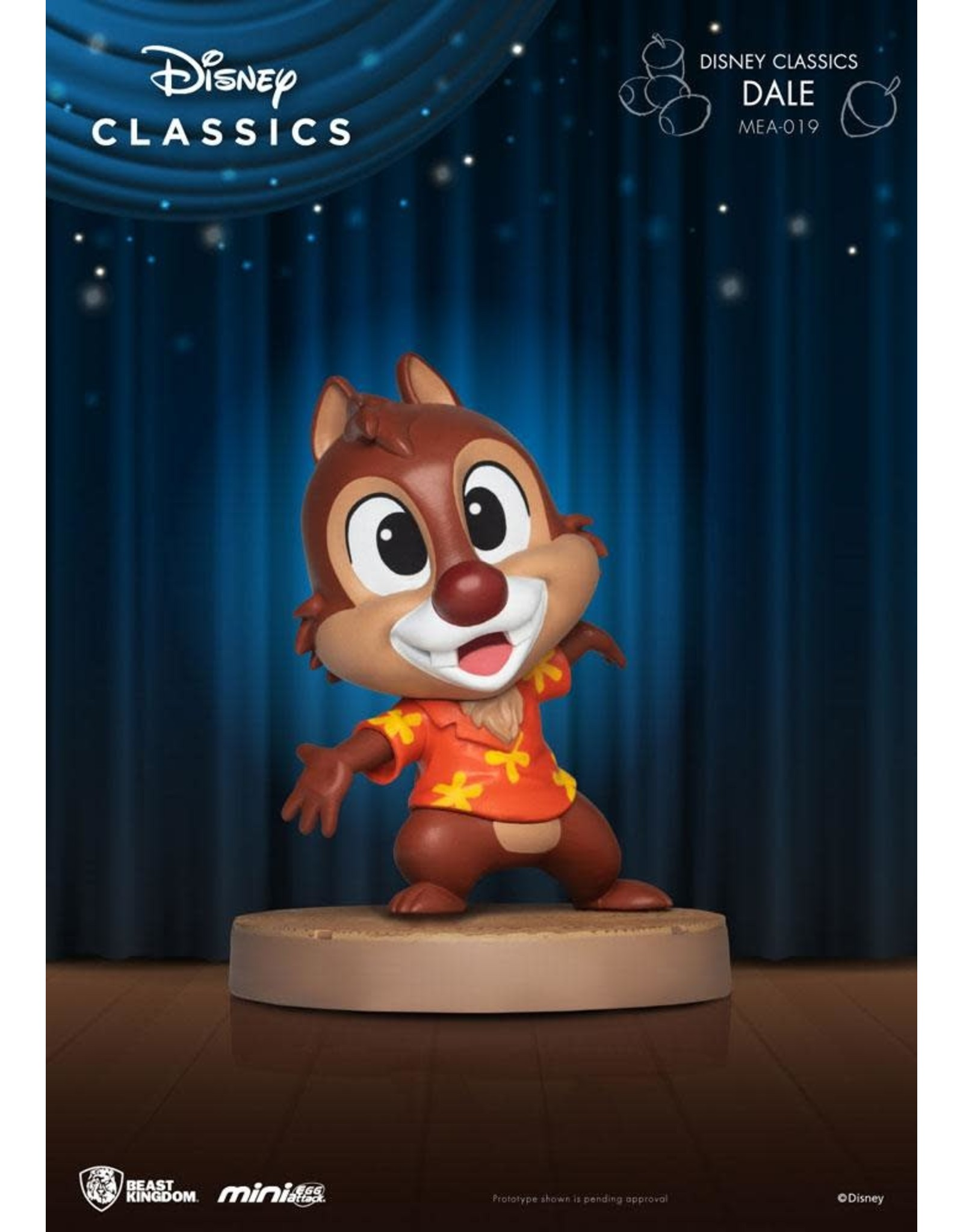 Beast Kingdom CHIP 'N DALE Mini Egg Attack Figure 8cm - Dale