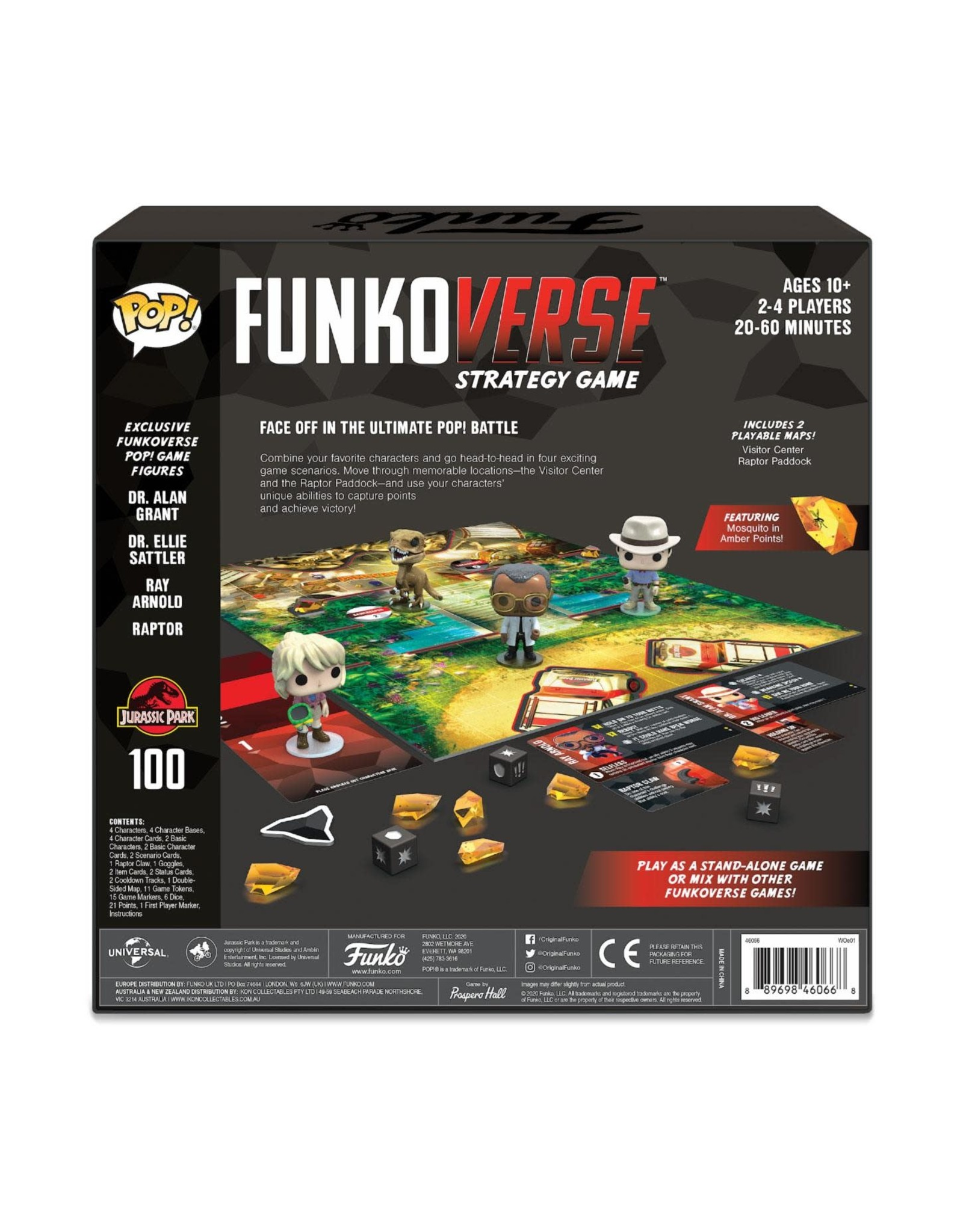 Funko JURASSIC PARK Funkoverse - Base Set (UK)