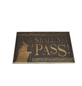Pyramid International LORD OF THE RINGS Rubber Doormat 40x60 - You Shall Not Pass