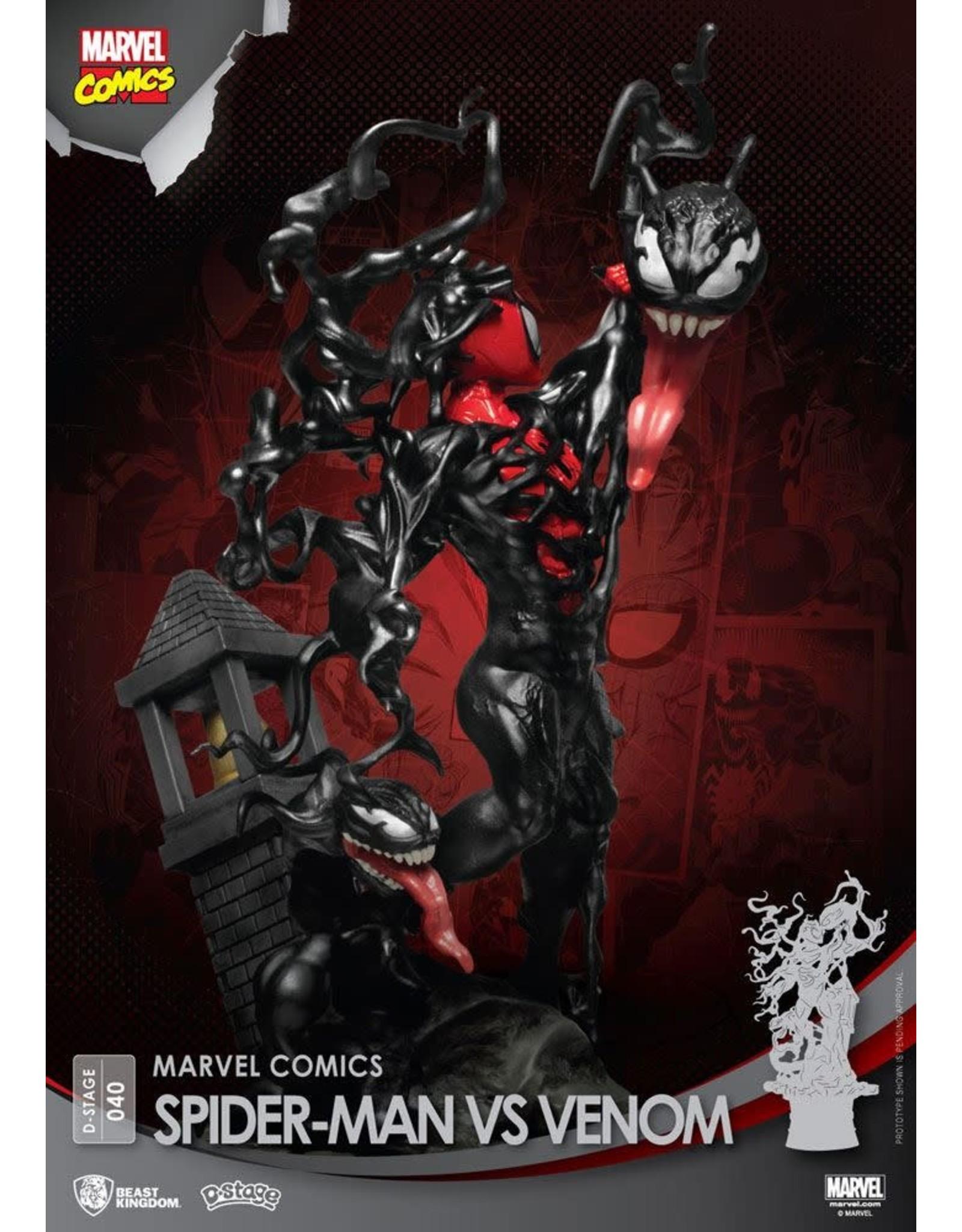 Beast Kingdom SPIDER-MAN D-Stage Diorama 16cm - Spider-man vs Venom