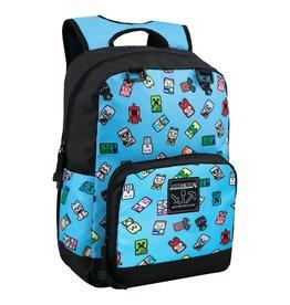 Jinx MINECRAFT Backpack - Bobble Mobs Blue
