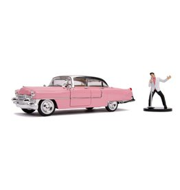Jada Toys ELVIS PRESLEY Diecast Model 1:24 - 1955 Cadillac Fleetwood with Figure