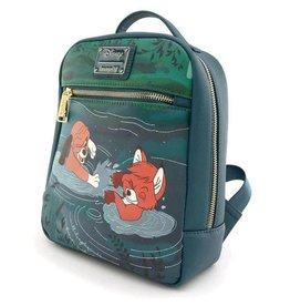 Loungefly THE FOX & THE HOUND Mini Backpack - Water Fight