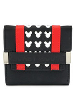Loungefly MICKEY MOUSE Trifold Purse - Red Stripe