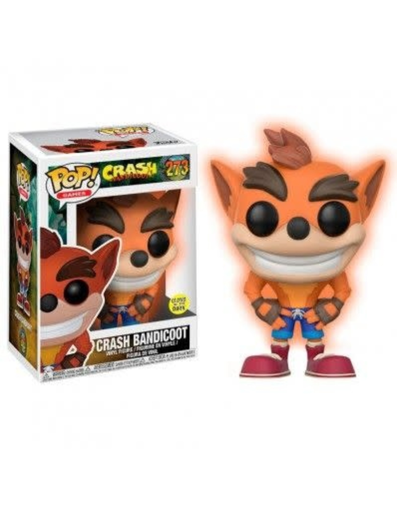 Funko CRASH BANDICOOT POP! N° 273 - Crash GITD Exclusive