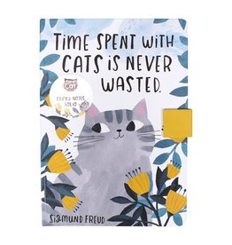 Half Moon Bay PLANET CAT Sticky Notes Folio - Time Spent With Cats
