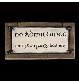 Weta LORD OF THE RINGS Fridge Magnet - No Admittance