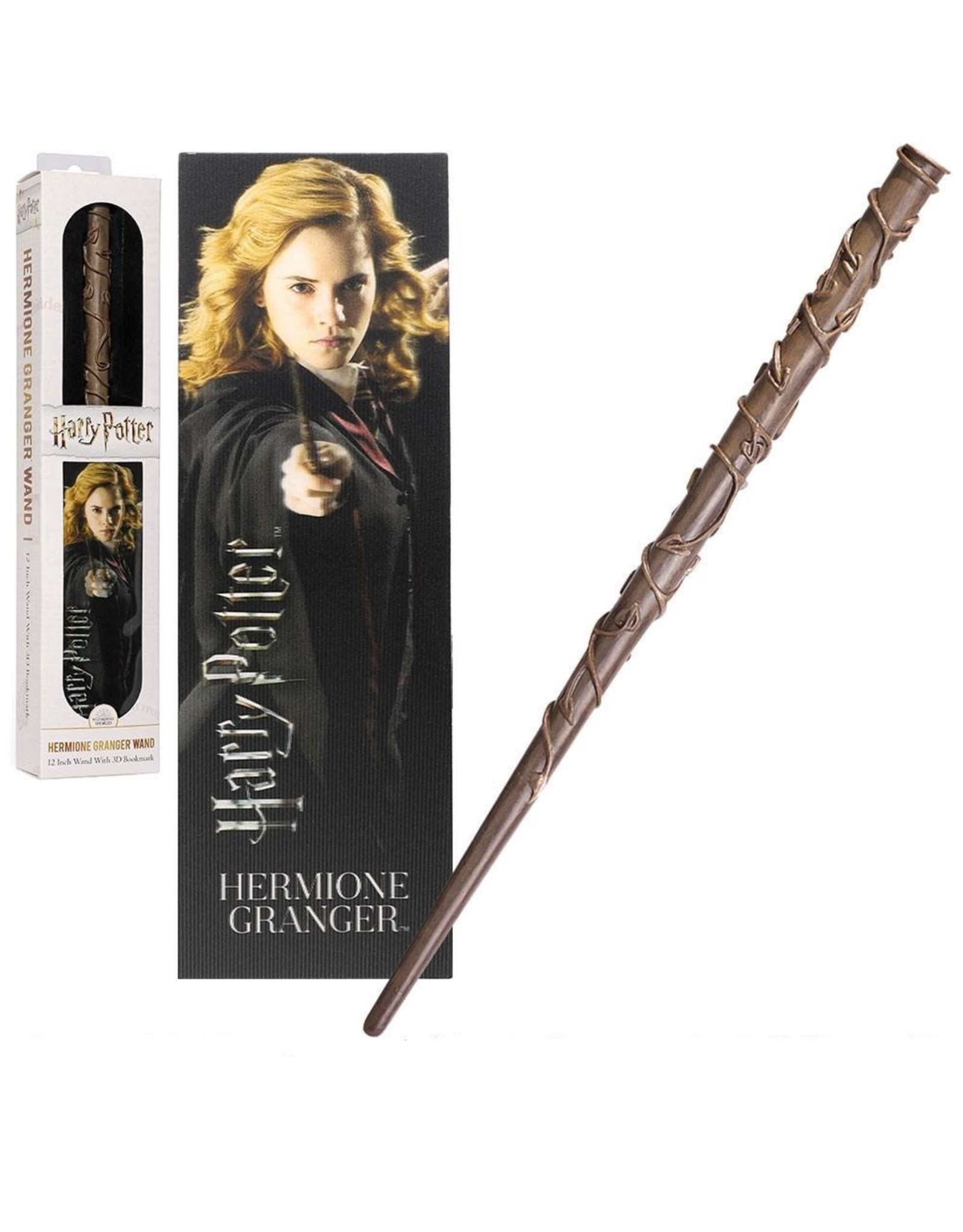 Noble Collection HARRY POTTER PVC Wand with 3D bookmark - Hermione Grainger