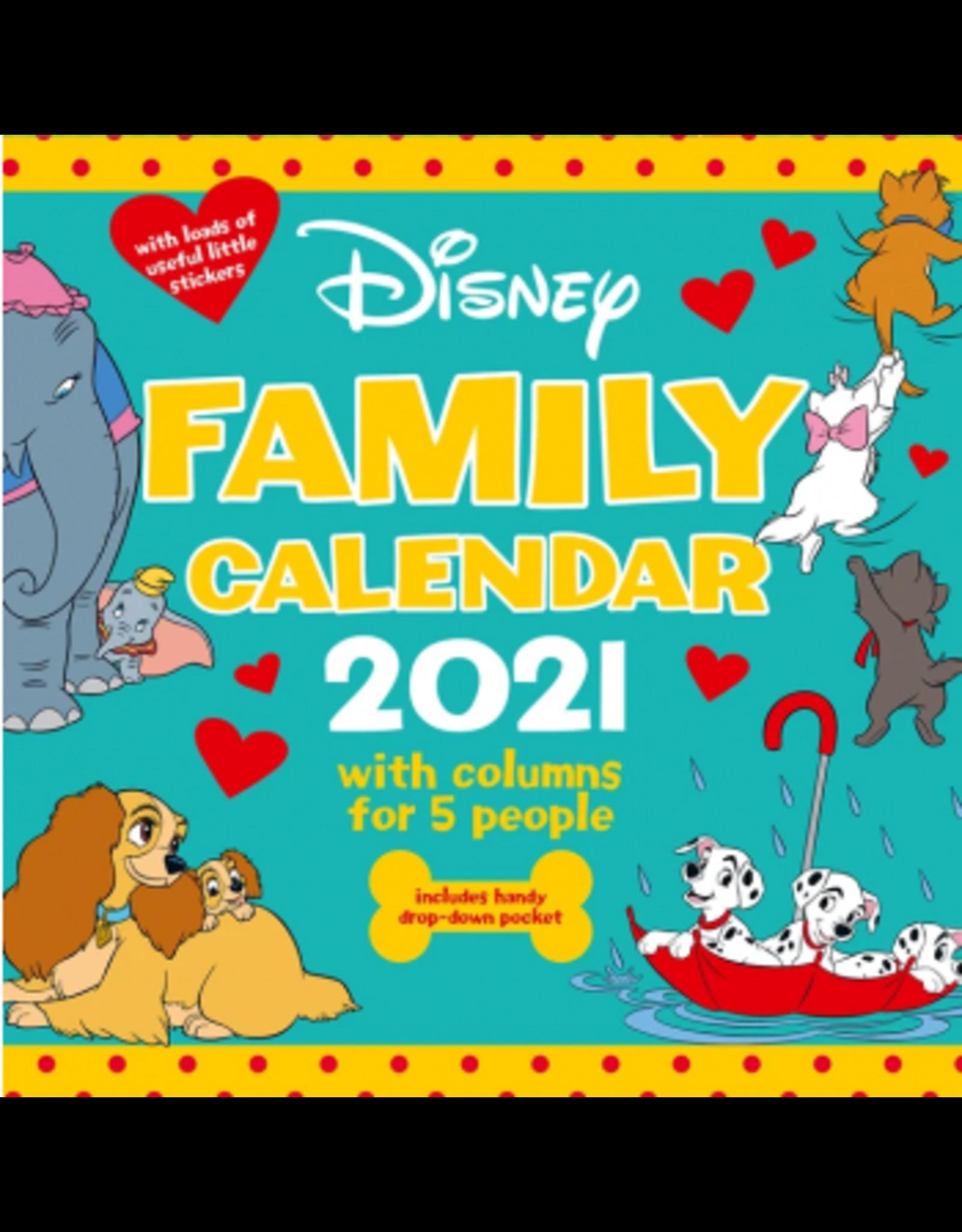 Danilo DISNEY Family Organiser Calendar 2021 (UK)