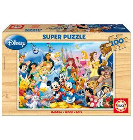 Educa Borras DISNEY Wooden Puzzle 100P - It's a Wonderful World