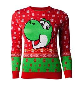 Difuzed SUPER MARIO Ladies Christmas Sweater - Yoshi