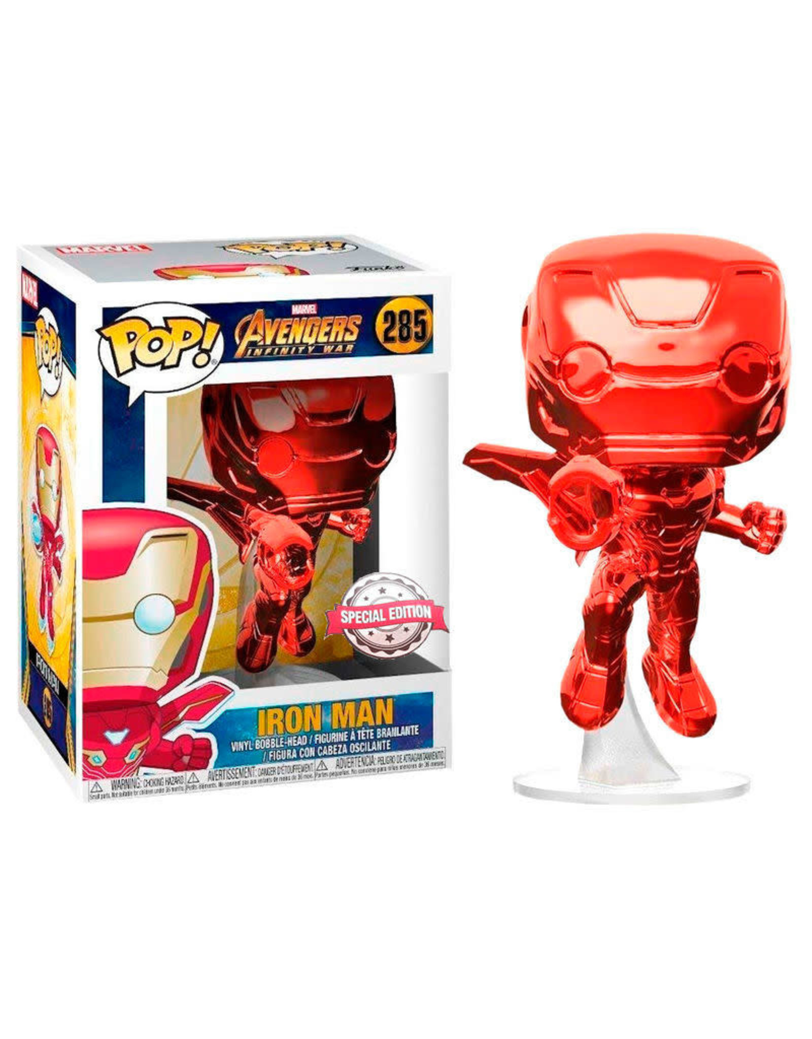 Funko AVENGERS INFINITY WAR POP! N° 285 - Iron Man Red Exclusive