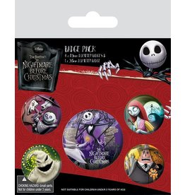 Pyramid International THE NIGHTMARE BEFORE CHRISTMAS 5-Pack Badges - Characters