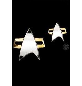 Quantum Mechanix STAR TREK Voyager Badge & Pin Set