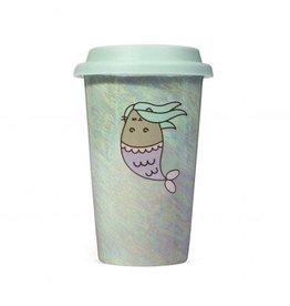 thumbsUp! PUSHEEN Travel Mug - Mermaid