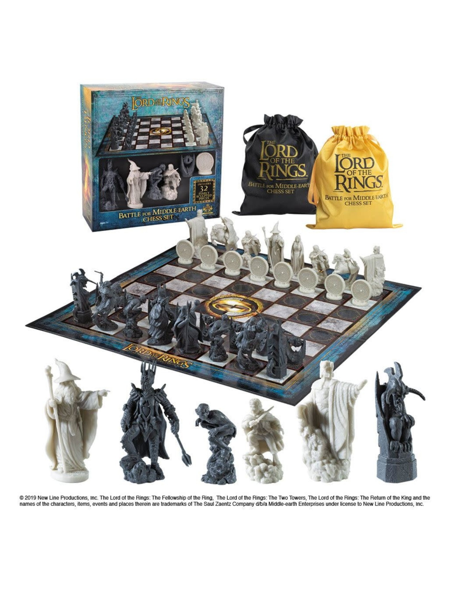 Noble Collection LORD OF THE RINGS Chess Set - Battle for Middle Earth Expansion Set