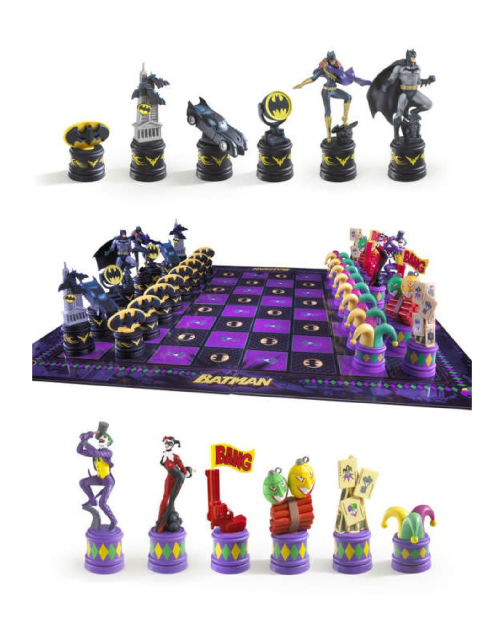 Noble Collection BATMAN Chess Set - The Dark Knight vs The Joker