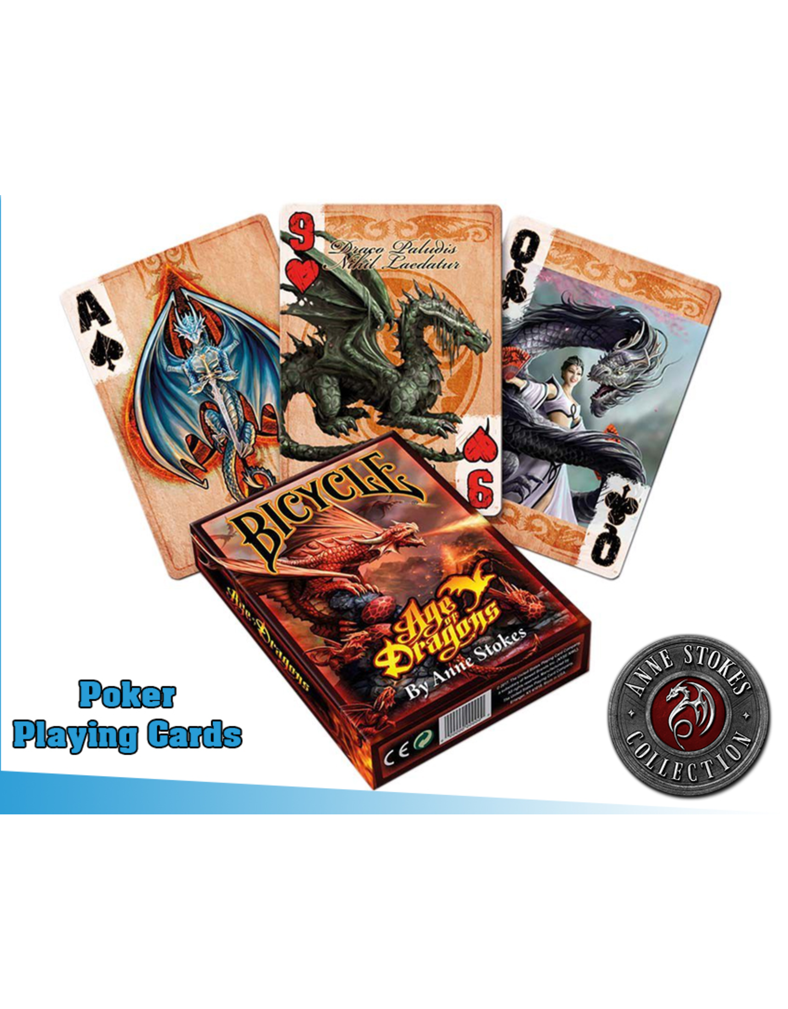 Nemesis Now ANN STOKES Playing Cards - Age Of Dragons