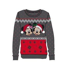 Difuzed MICKEY MOUSE Women's Christmas Sweater -Mickey & Minnie (S)