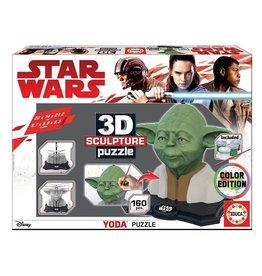 Educa Borras STAR WARS 3D Puzzle Yoda Colour Edition