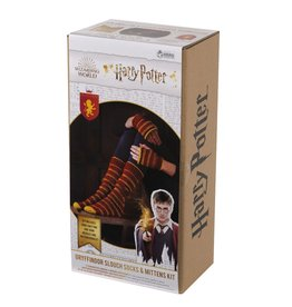Eaglemoss HARRY POTTER Slouch Socks and Mittens Knit Kit - Gryffindor