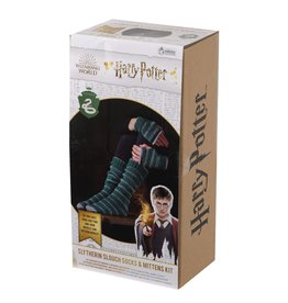 Eaglemoss HARRY POTTER Slouch Socks and Mittens Knit Kit - Slytherin