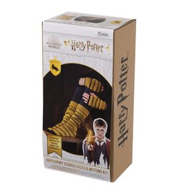Eaglemoss HARRY POTTER Slouch Socks and Mittens Knit Kit - Hufflepuff