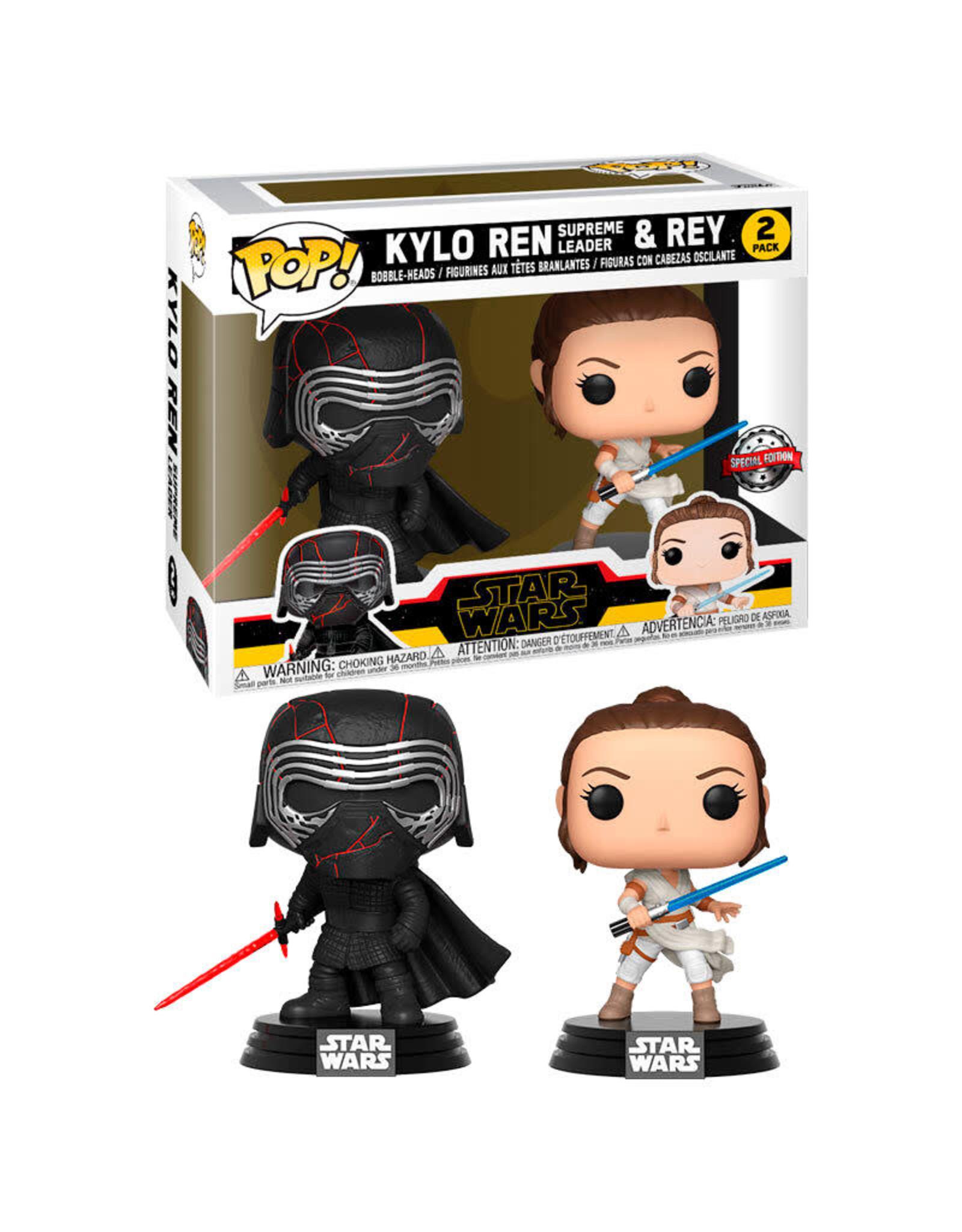 Funko STAR WARS Rise of Skywalker 2-Pack POP! - Kylo and Rey Exclusive