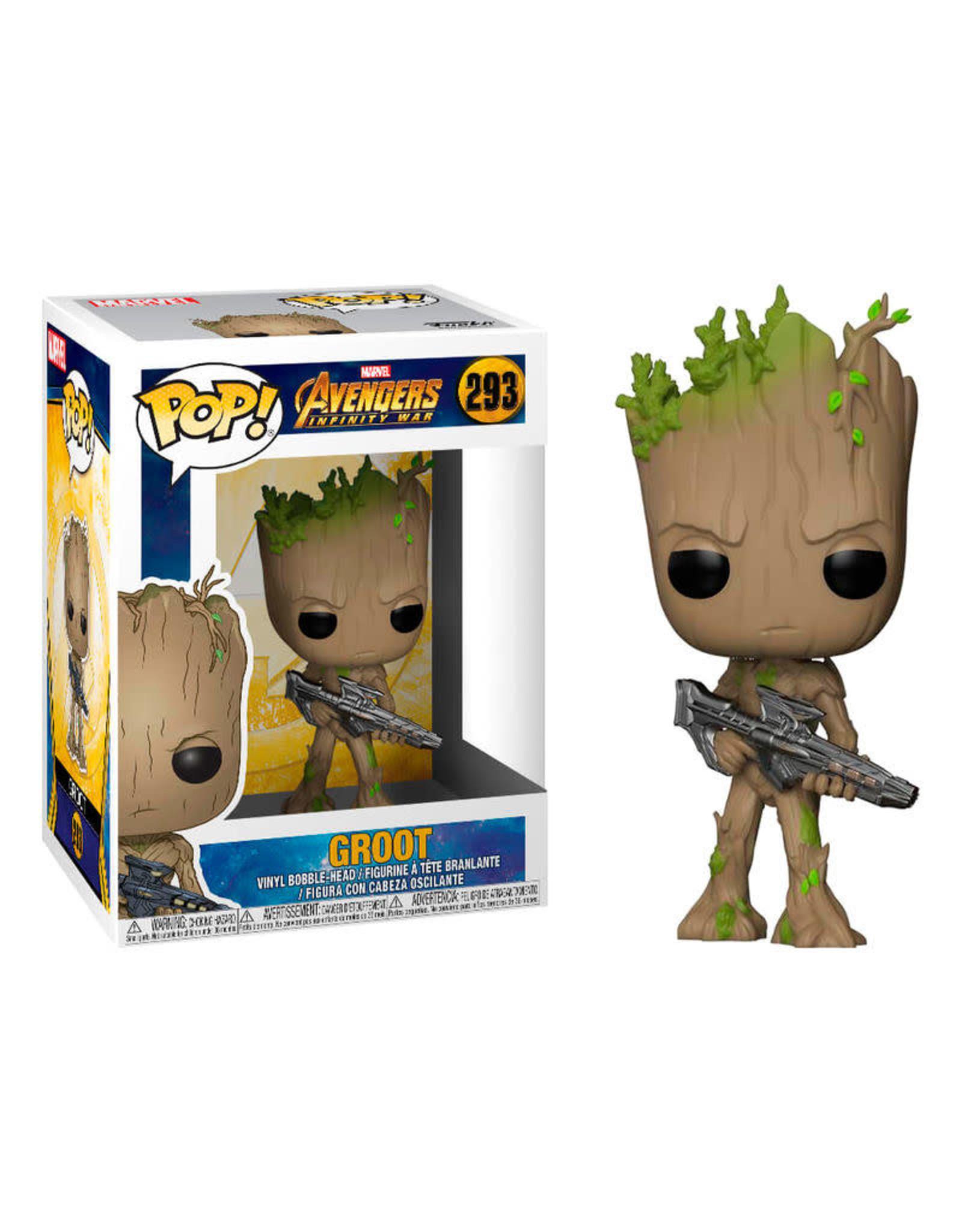 Funko AVENGERS INFINITY WAR POP! N°293 - Teen Groot with Gun