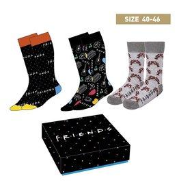 FRIENDS Set of 3 socks Size 40-46 - Symbols