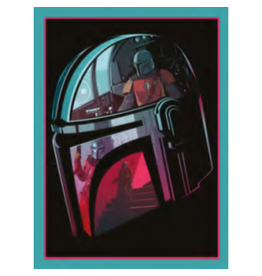 Pyramid International STAR WARS Canvas 30X40cm - The Mandalorian (Helmet Section)