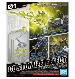 Bandai GUNDAM Customize Effect - Gunfire Image Ver. Yellow