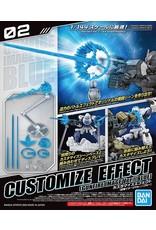 Bandai GUNDAM Customize Effect - Gunfire Image Ver. Blue