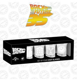 BACK TO THE FUTURE Set of 4 Shot Glasses