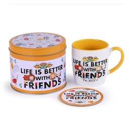 Pyramid International FRIENDS Mug with Coaster - Life is better
