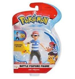 BOTI POKEMON Battle Feature Figure 11cm Wave 7 - Ash with Pikachu