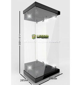 Legend Studios LEGEND STUDIOS Master Light House Acrylic Display Case with Lighting for 1/4 Action Figures (black)