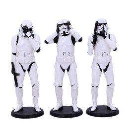 Nemesis Now STAR WARS Original Stormtrooper Figures 3-Pack 14cm - Three Wise Stormtroopers