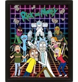 Pyramid International RICK AND MORTY 3D Lenticular Poster 26x20 - Characters