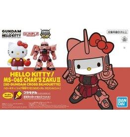 Bandai GUNDAM Model Kit SD Cross Silhouette - Hello Kitty Zaku II Pink