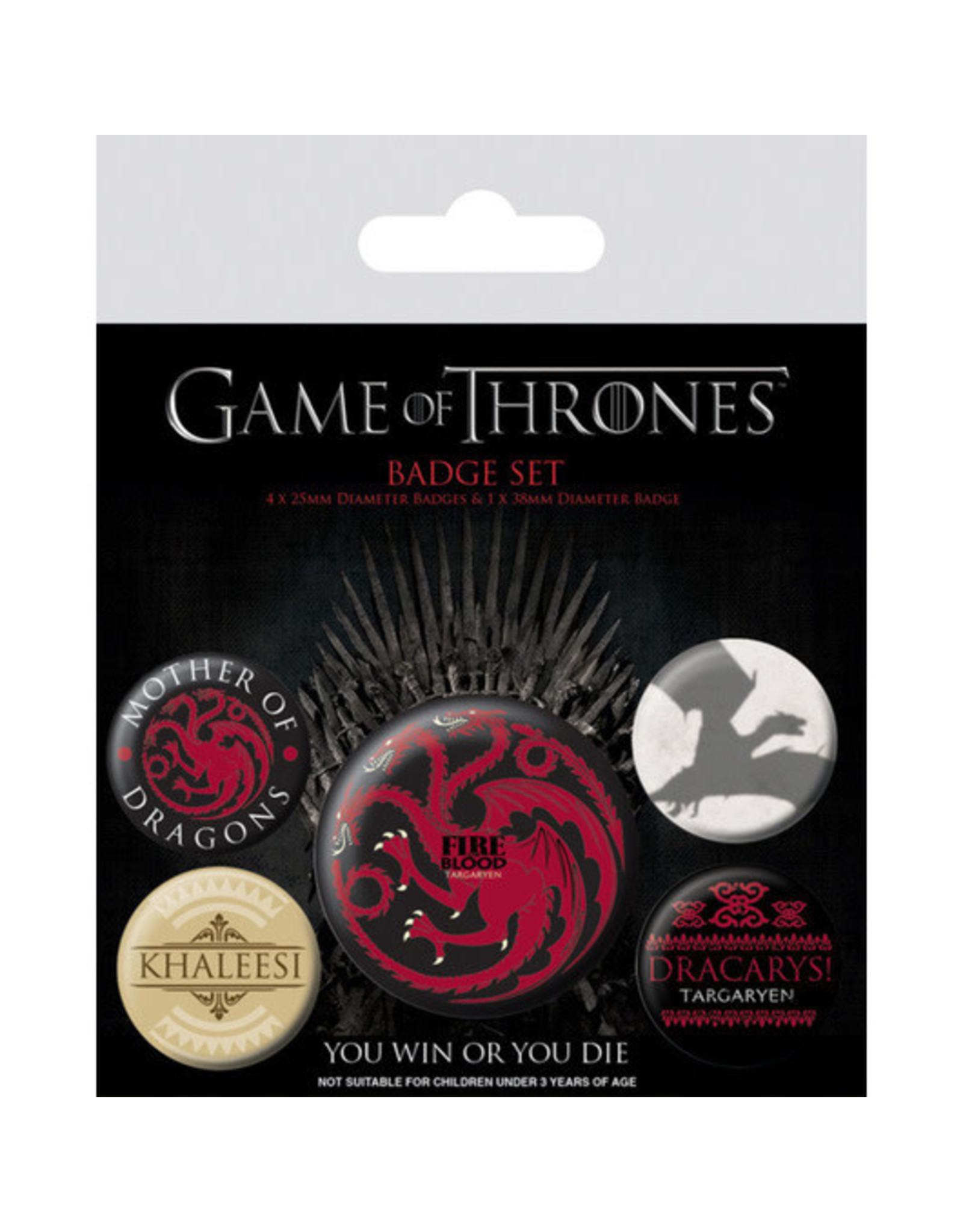 GAME OF THRONES 5-Pack Badges - Fire and Blood