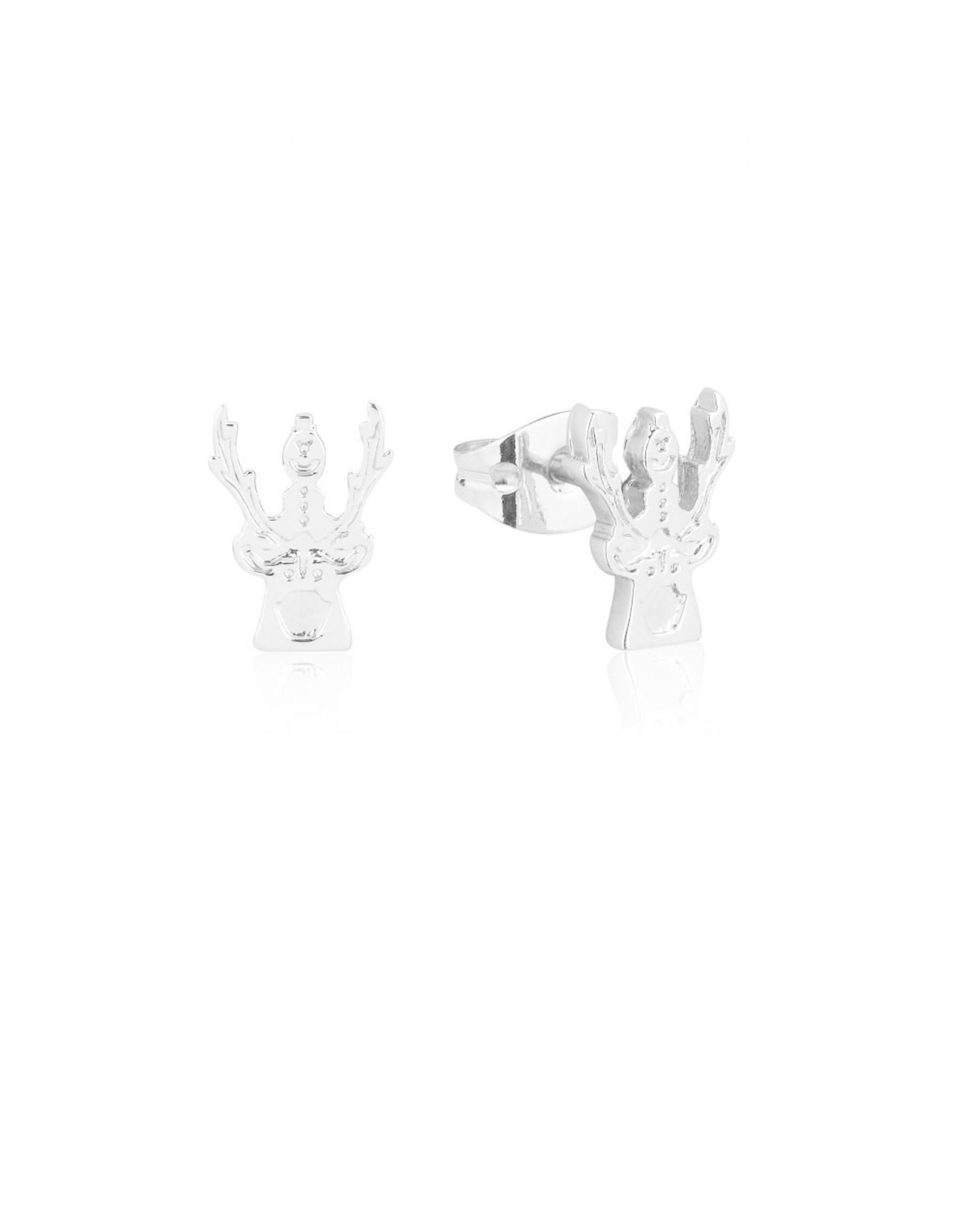 FROZEN 2 - Olaf & Sven Stud Earrings 'White Gold Plated'