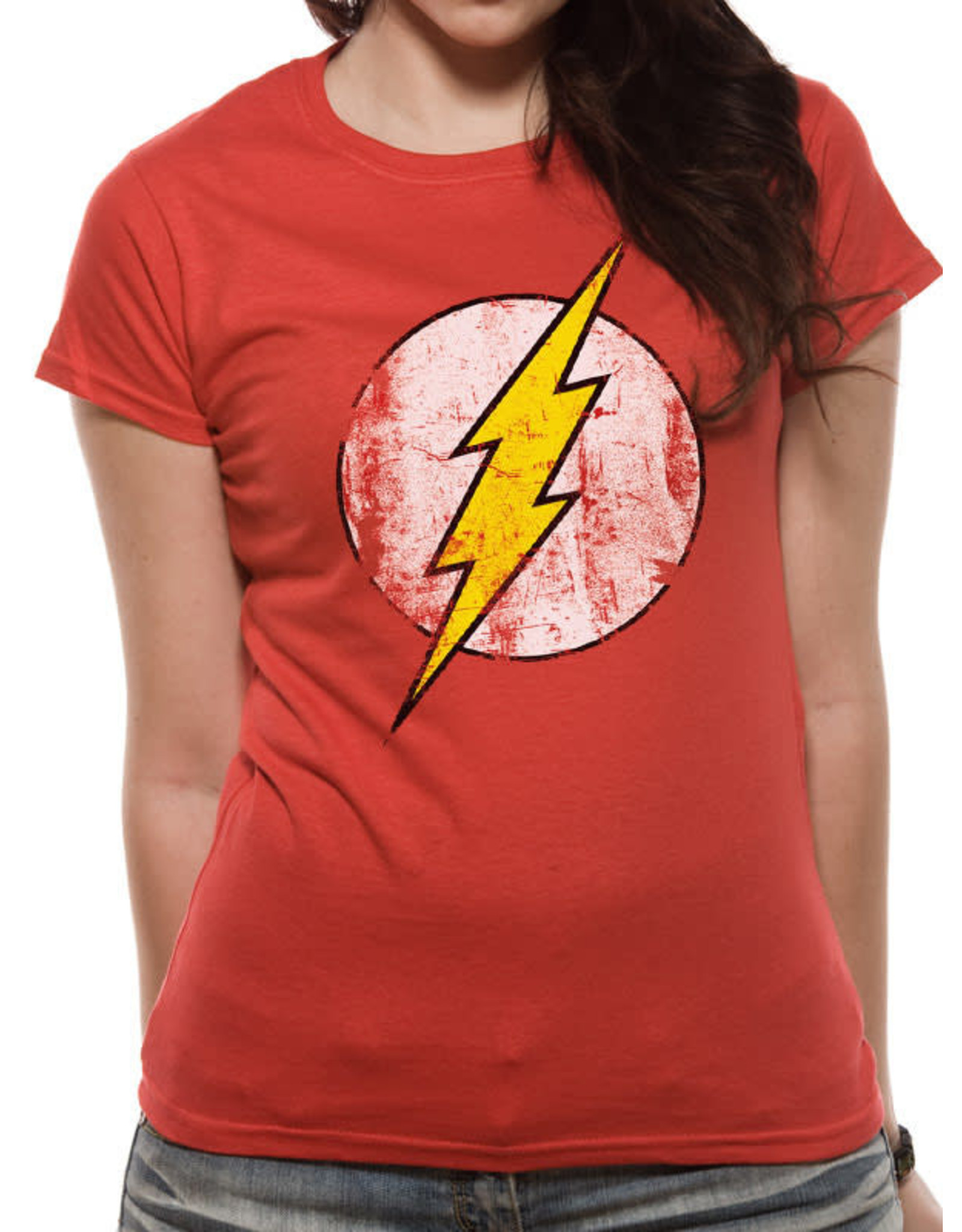 FLASH - T-Shirt IN A TUBE- Distressed Logo WOMAN (XL)