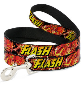 FLASH - Dog Leash 1,8 M - 2,5 Cm - Red/Text