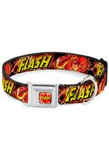 FLASH - Dog Collar (L) 38/66 - 2,5 Cm - Red/Text