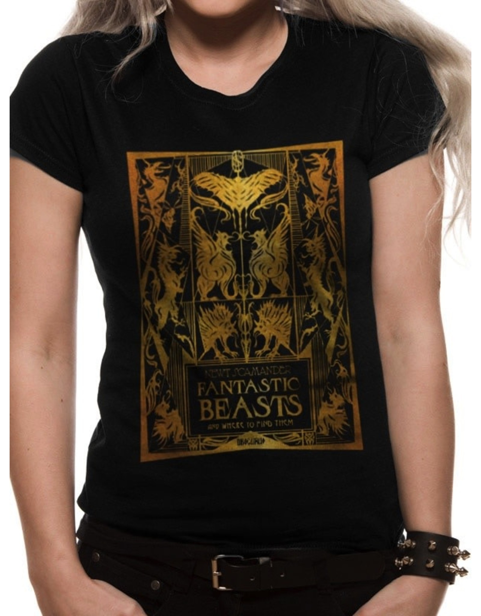 FANTASTIC BEASTS 2 - T-Shirt IN A TUBE - Foil Book Cover - GIRL (XL)