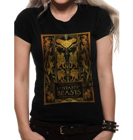 FANTASTIC BEASTS 2 - T-Shirt IN A TUBE - Foil Book Cover - GIRL (L)