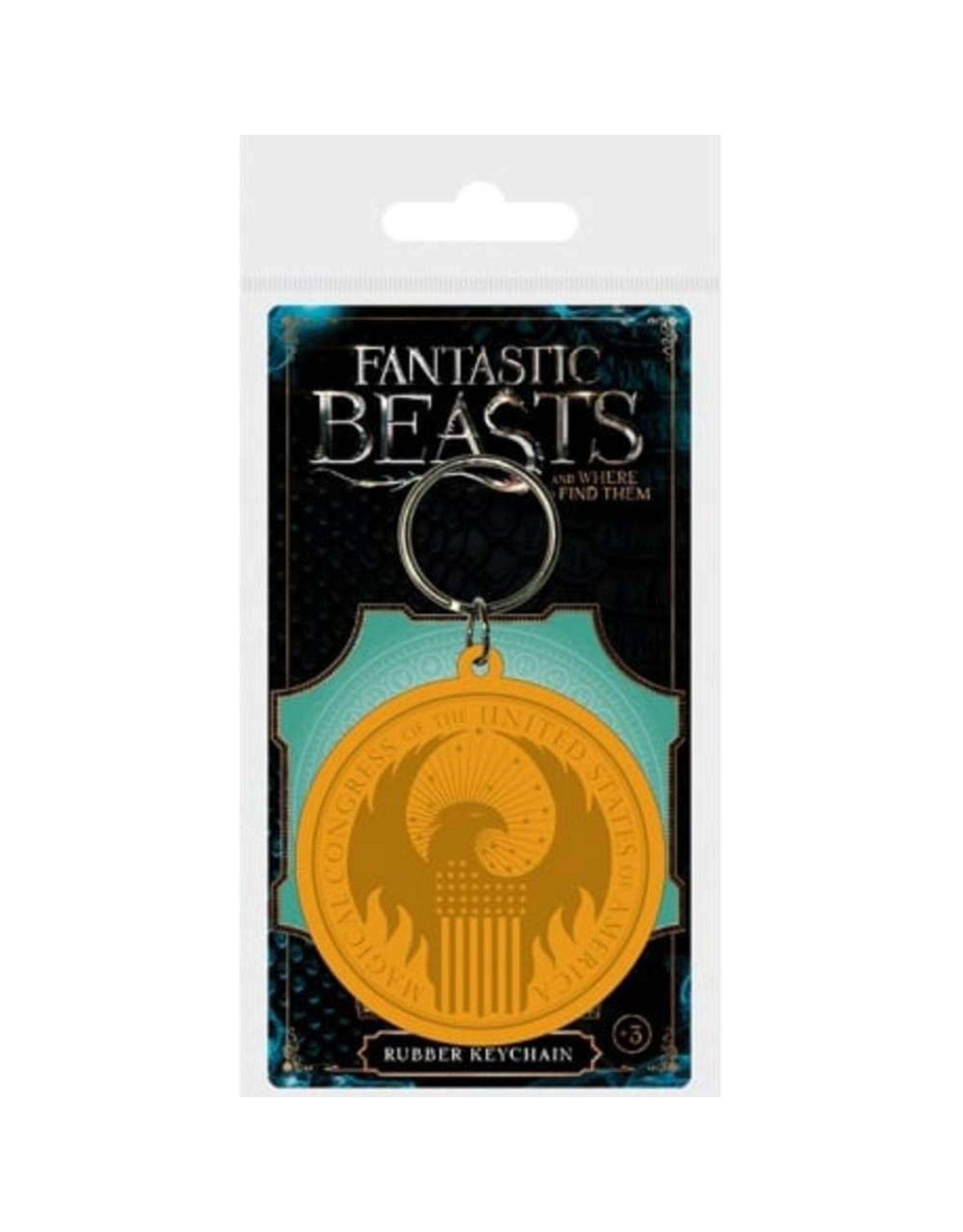 FANTASTIC BEASTS - Rubber Keychain - MACUSA Logo
