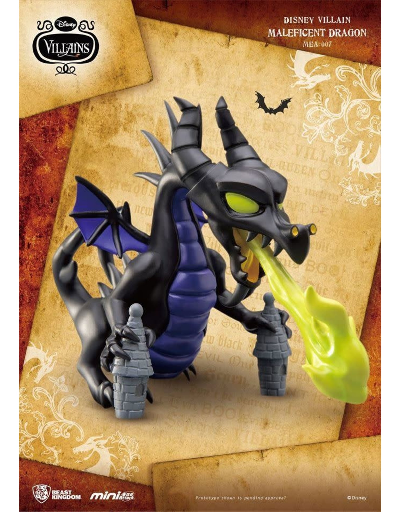 DISNEY VILLAINS - Figurine Mini Egg Attack - Maleficent Dragon - 10cm
